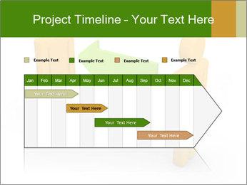 Exchange between two 3d men PowerPoint Templates - Slide 25