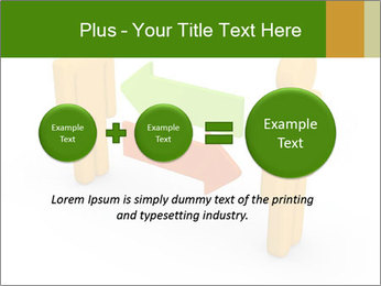 Exchange between two 3d men PowerPoint Templates - Slide 75