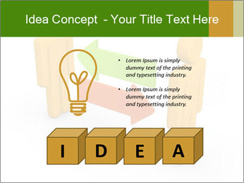 Exchange between two 3d men PowerPoint Templates - Slide 80