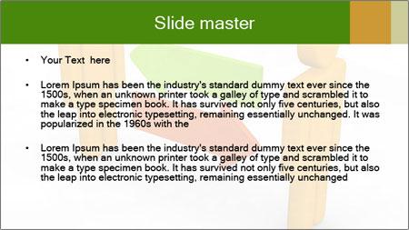 Exchange between two 3d men PowerPoint Template - Slide 2