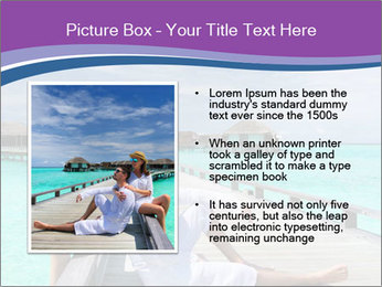 Couple on a tropical beach PowerPoint Templates - Slide 13