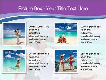 Couple on a tropical beach PowerPoint Templates - Slide 14