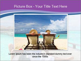 Couple on a tropical beach PowerPoint Templates - Slide 16