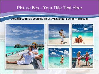 Couple on a tropical beach PowerPoint Templates - Slide 19