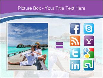 Couple on a tropical beach PowerPoint Templates - Slide 21