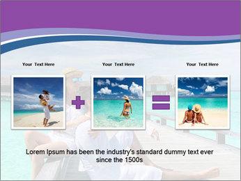 Couple on a tropical beach PowerPoint Templates - Slide 22