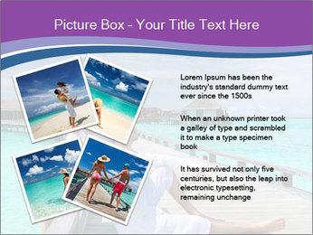 Couple on a tropical beach PowerPoint Templates - Slide 23