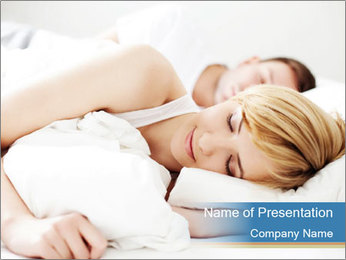 Portrait of couple sleeping PowerPoint Templates - Slide 1