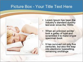 Portrait of couple sleeping PowerPoint Template - Slide 13