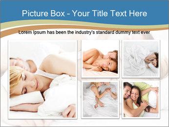 Portrait of couple sleeping PowerPoint Template - Slide 19
