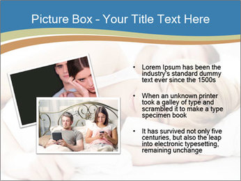 Portrait of couple sleeping PowerPoint Template - Slide 20