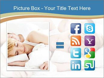 Portrait of couple sleeping PowerPoint Template - Slide 21