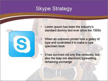 Golden color pure breed vizsla dog PowerPoint Template - Slide 8