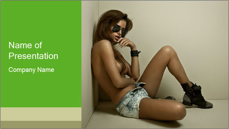 Fashion woman PowerPoint Template - Slide 1