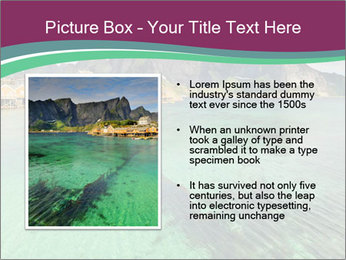 Scenic fjord on Lofoten islands PowerPoint Template - Slide 13