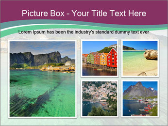 Scenic fjord on Lofoten islands PowerPoint Template - Slide 19