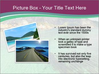 Scenic fjord on Lofoten islands PowerPoint Template - Slide 20