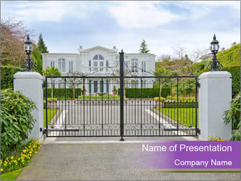 Big luxury custom made house PowerPoint Templates - Slide 1