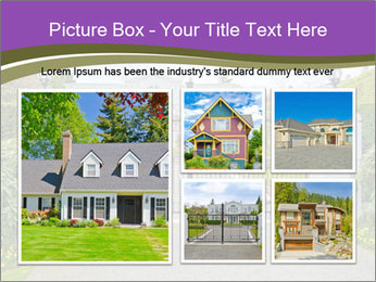 Big luxury custom made house PowerPoint Templates - Slide 19