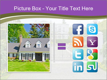 Big luxury custom made house PowerPoint Templates - Slide 21