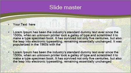 Big luxury custom made house PowerPoint Template - Slide 2