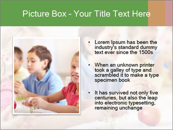 Group of kids having lunch PowerPoint Template - Slide 13
