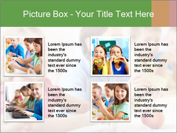 Group of kids having lunch PowerPoint Template - Slide 14