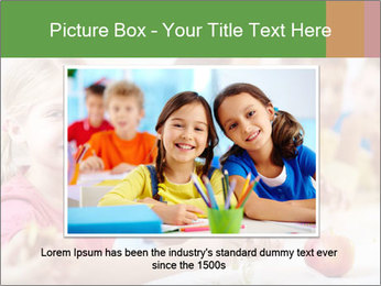 Group of kids having lunch PowerPoint Template - Slide 15