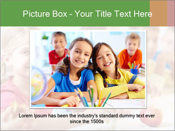 Group of kids having lunch PowerPoint Template - Slide 16