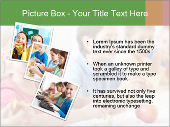 Group of kids having lunch PowerPoint Template - Slide 17