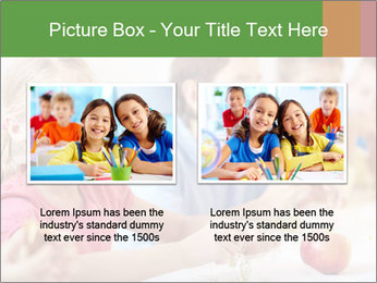 Group of kids having lunch PowerPoint Template - Slide 18