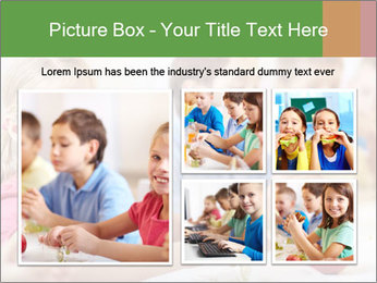 Group of kids having lunch PowerPoint Template - Slide 19