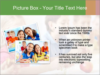 Group of kids having lunch PowerPoint Template - Slide 20