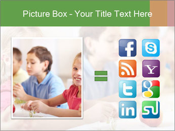 Group of kids having lunch PowerPoint Template - Slide 21