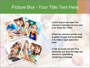 Group of kids having lunch PowerPoint Template - Slide 23