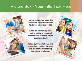 Group of kids having lunch PowerPoint Template - Slide 24