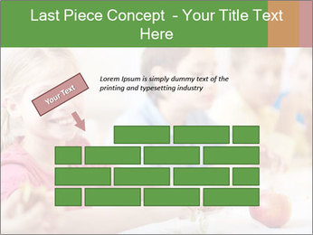 Group of kids having lunch PowerPoint Template - Slide 46