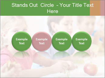 Group of kids having lunch PowerPoint Template - Slide 76