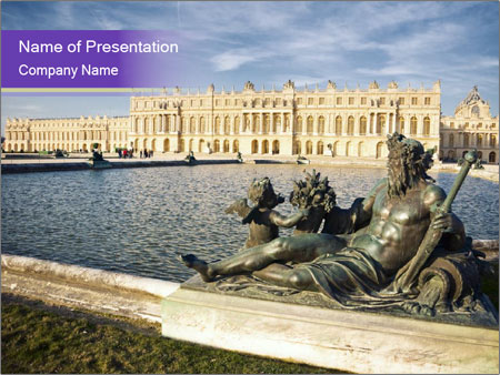 Versailles castle near Paris PowerPoint Templates