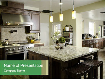 Kitchen Interior Home PowerPoint Templates - Slide 1