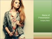A photo of beautiful girl PowerPoint Templates