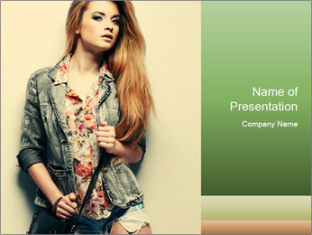 A photo of beautiful girl PowerPoint Templates - Slide 1
