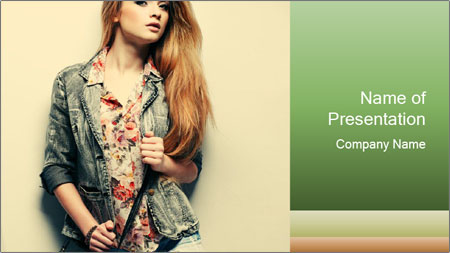 A photo of beautiful girl PowerPoint Template
