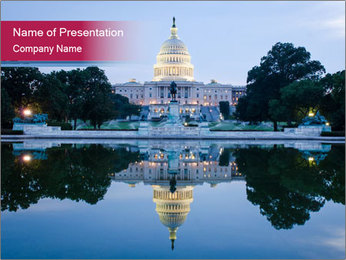 Government building PowerPoint Template - Slide 1