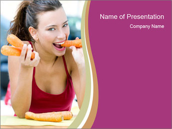 Carrots healthy way of life PowerPoint Templates - Slide 1