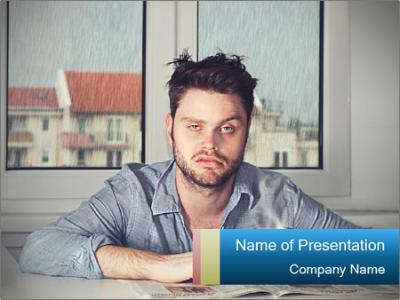 Terrible mood PowerPoint Template