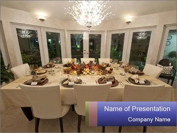 Family dinner PowerPoint Template - Slide 1