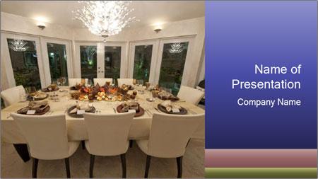 Family dinner PowerPoint Template