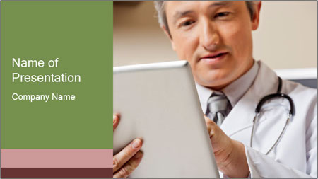 Close up of mature male doctor PowerPoint Template