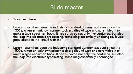 Close up of mature male doctor PowerPoint Template - Slide 2